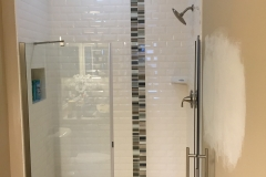bathroom renovation shower tile glass doors West Chase bourgoing construction