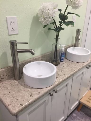 new remodeled bathroom with a double vanity and shower the owners of this stpete home were looking for soft and gracious style bathroom renovation ideas